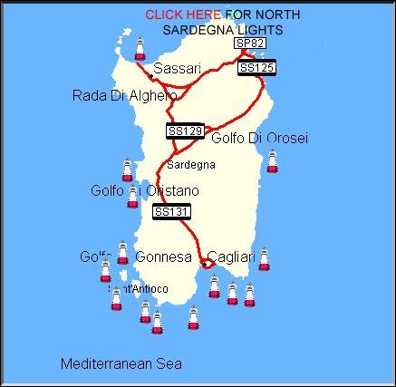Karte Sardinien Strände.Sardinien Strand Meer Karte 7