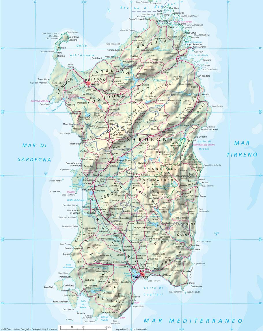 Karte Sardinien Strände.Sardinien Strand Meer Karte 8