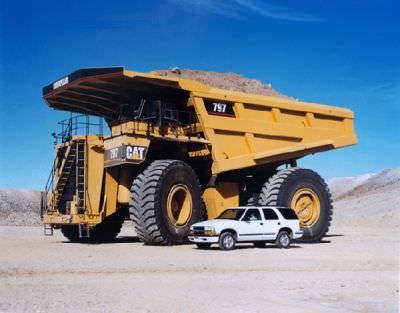 Riesentruck - Riesen-Truck - Caterpillar - Der grösste Truck der Welt